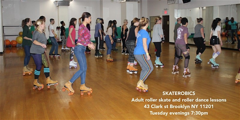 Tuesday's SKATEROBICS Adult Roller Skating classes and works...