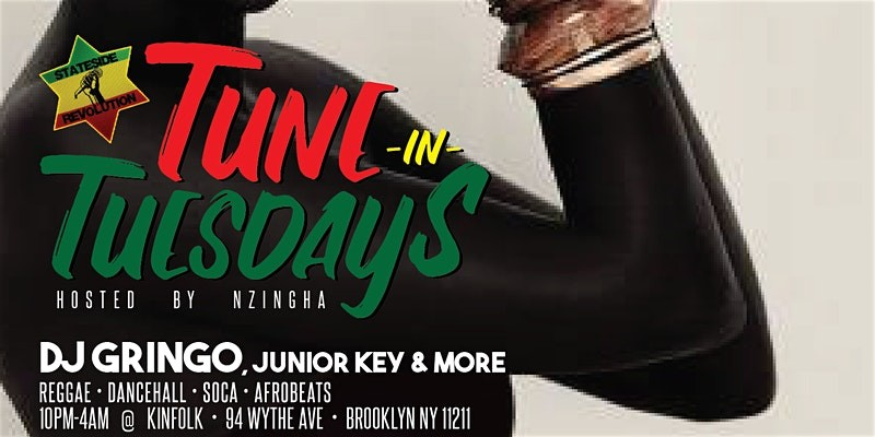 Tune In Tuesday's At Kinfolk with the best of reggae afrobeats and soca