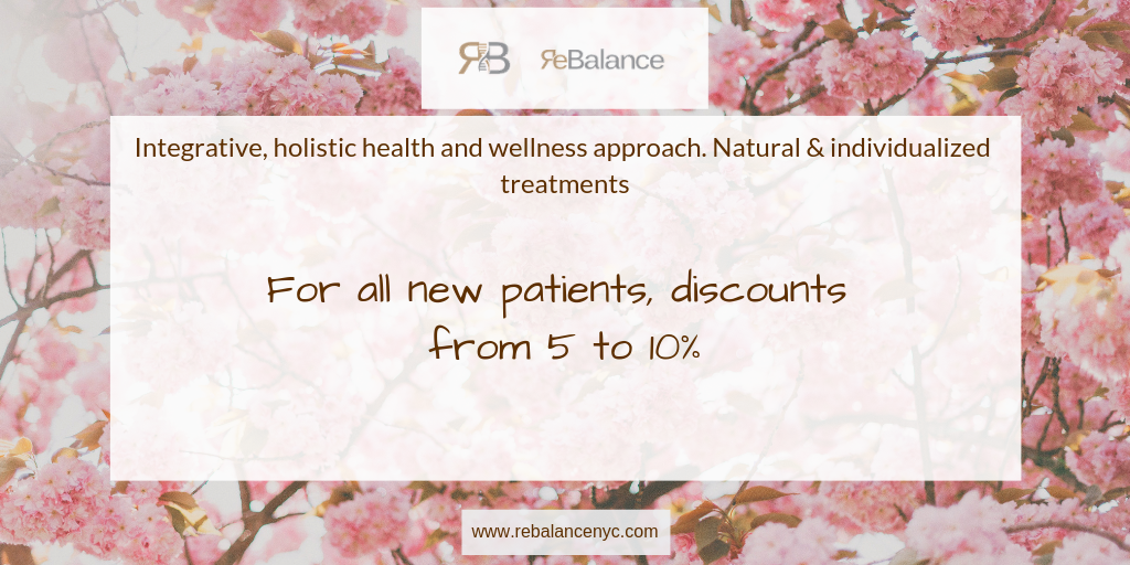 Discount for new patients from ReBalance