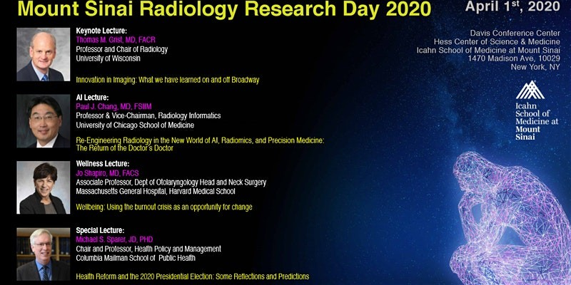 Mount Sinai Radiology Research Day 2020